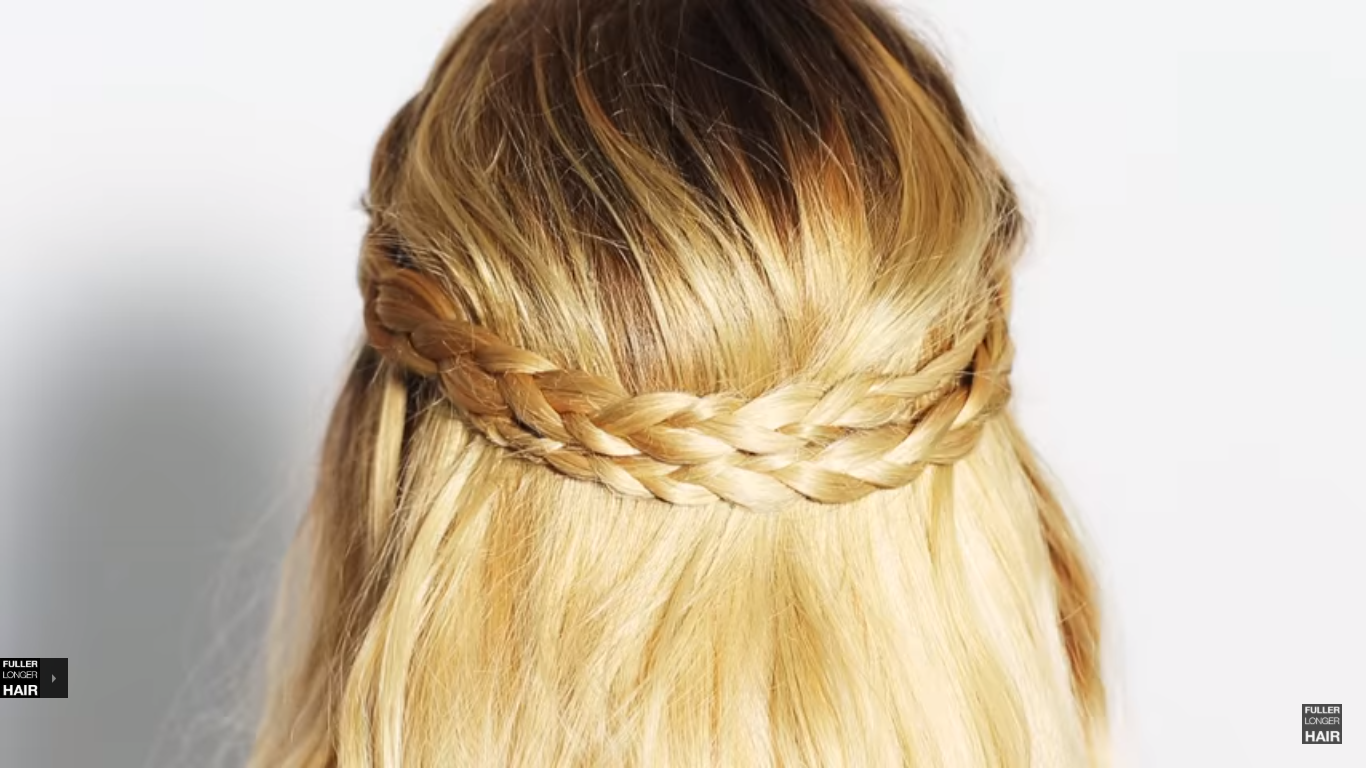 double braided half up